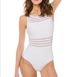 Jets Sheer High Neck One Piece